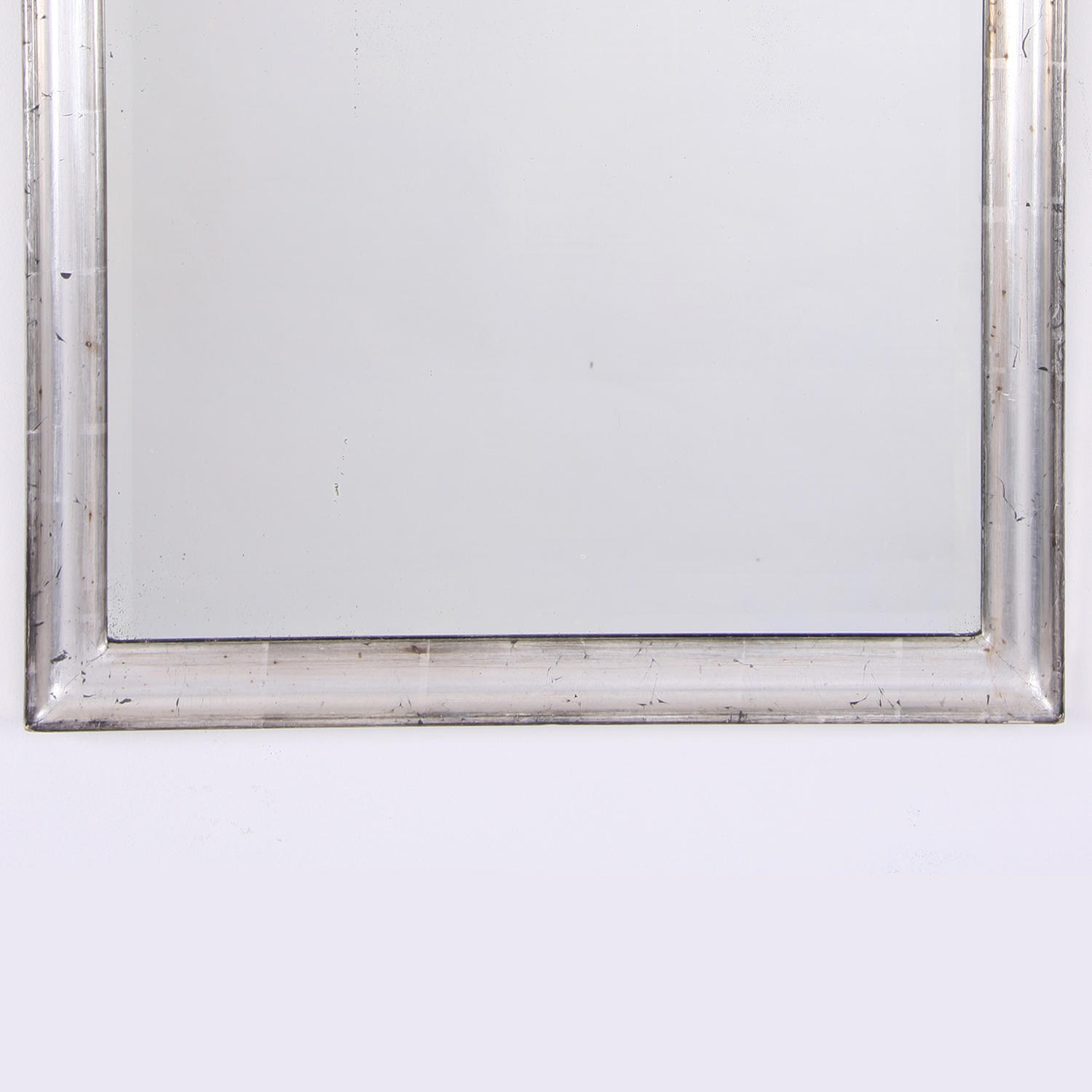 Small silver leaf mirror in mirrors for Small silver mirror