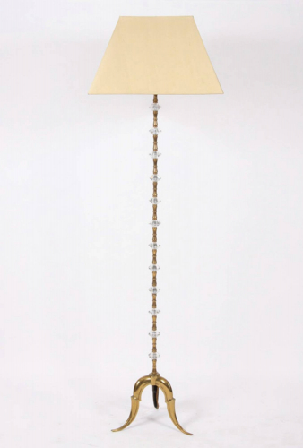 Brass & Glass Floorlamp