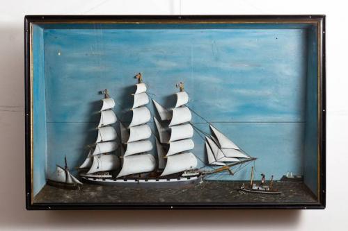 C19th Sailing Ship Diorama