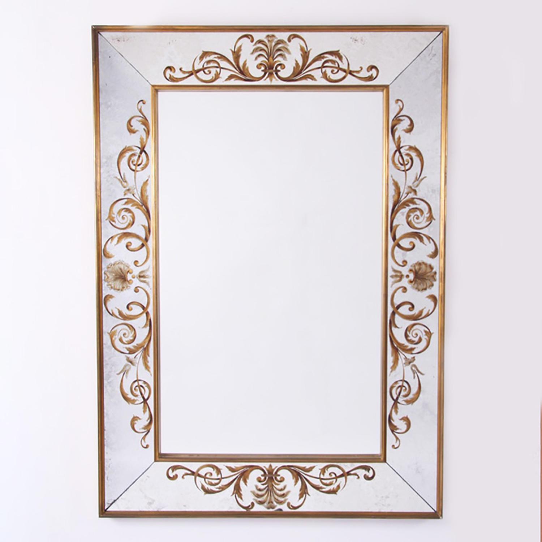 Mirror with Verre Eglomise