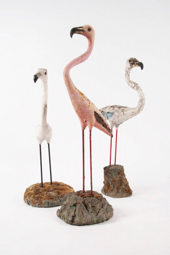Set of Garden Flamingoes