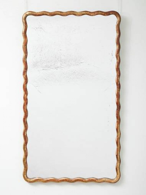Wave framed mirror