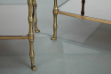 Pair Faux Bamboo side tables - picture 2