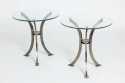 Pair of Round Glass Side Tables - picture 1