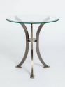 Pair of Round Glass Side Tables - picture 2
