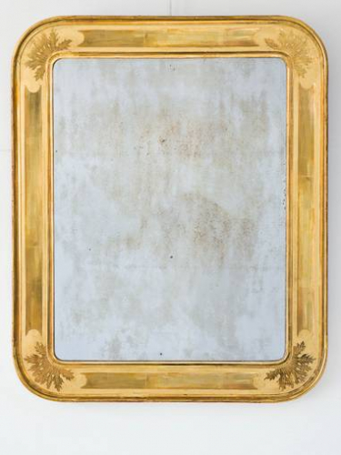 C19th French Mirror, lovely sparking plate and gilding.