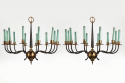 Pair of Italian 1950s Chandeliers - picture 1