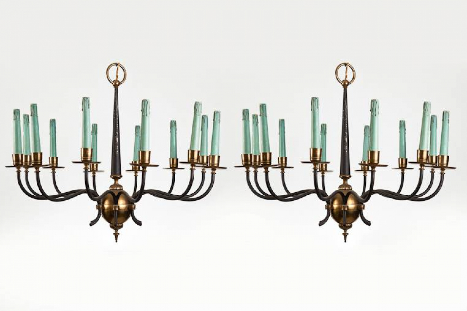 Pair of Italian 1950s Chandeliers