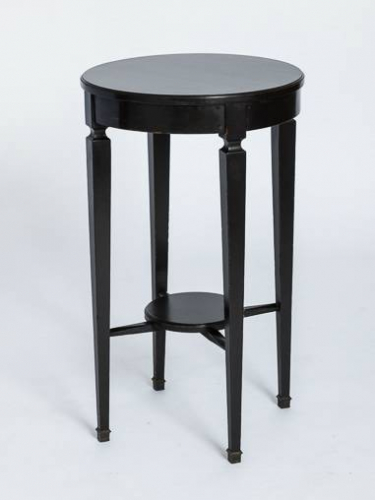French 1920`s Ebonised Side Table