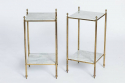 Pair of Side Tables with Marble - picture 1
