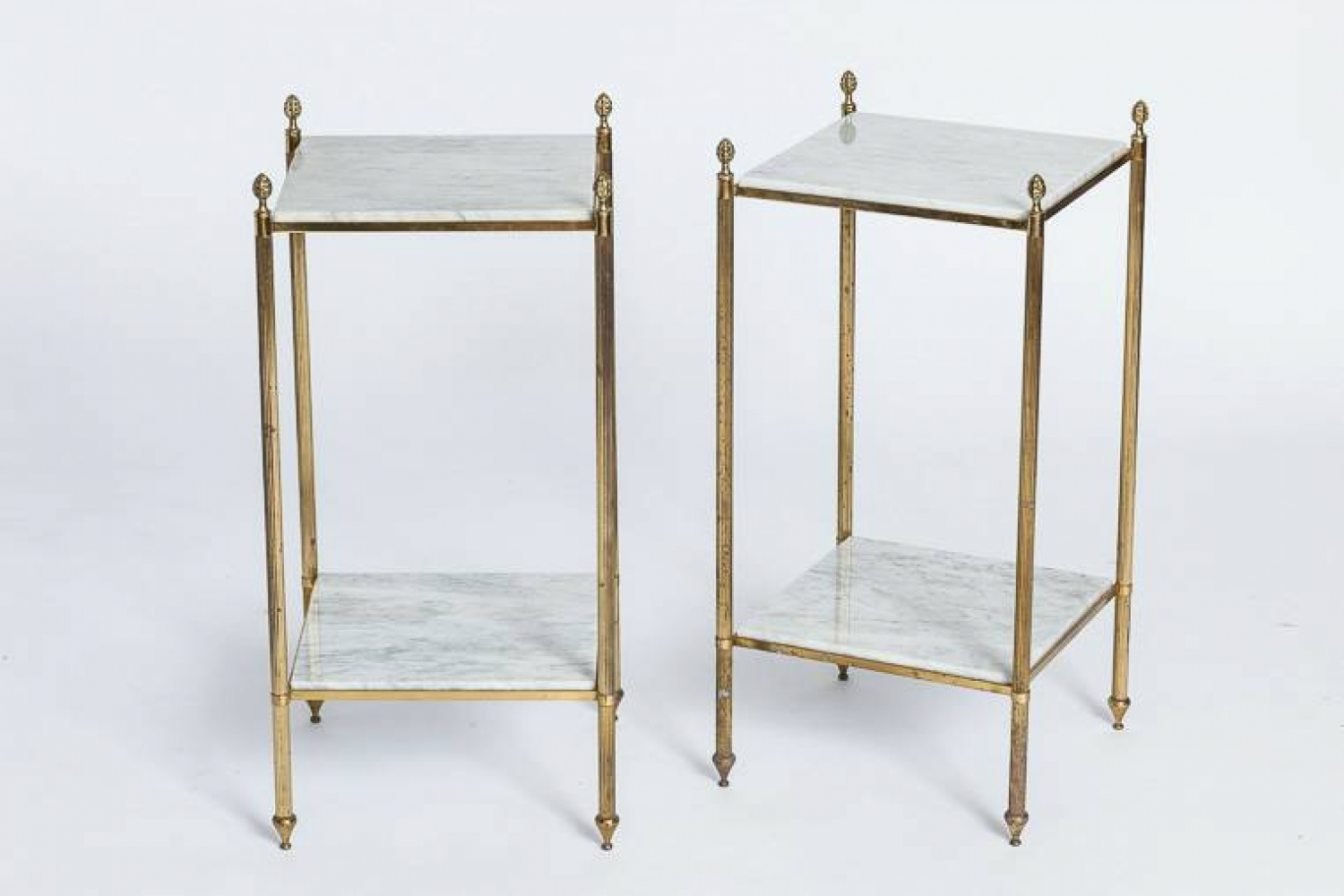 Pair of Side Tables with Marble