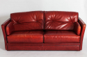 Red Leather Sofa - picture 1