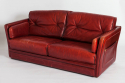 Red Leather Sofa - picture 2