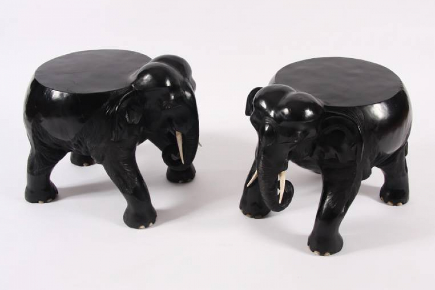 Pair of Elephant Side Tables