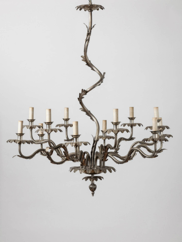 Metal leaf Chandelier