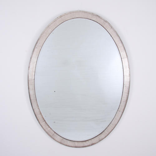 Large Silverleaf Oval Mirror