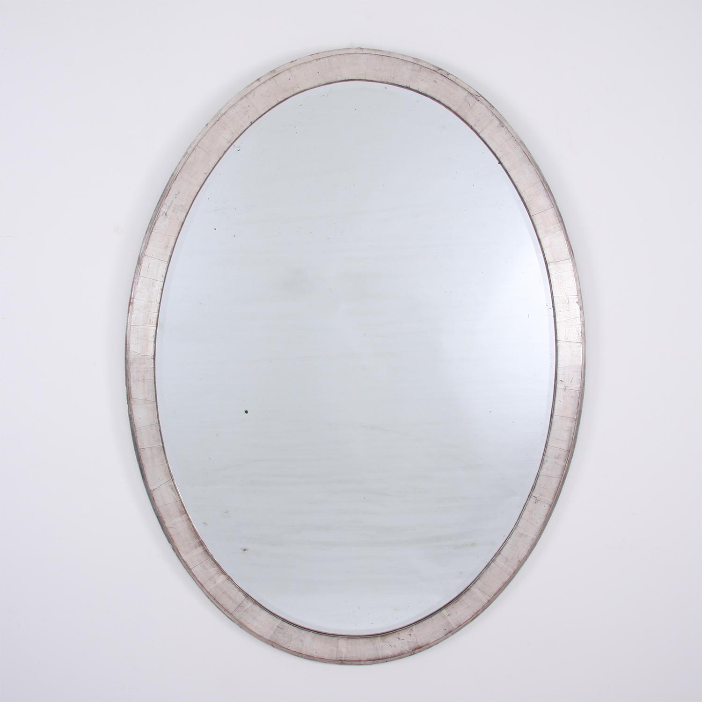 Large Silverleaf Oval Mirror