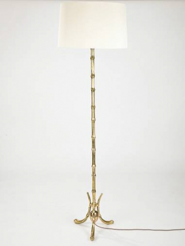 French, Faux Bamboo Floor Lamp