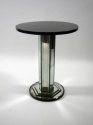 Mid 20th Century Mirrored Stem Side Table - picture 1