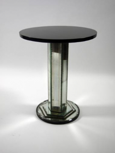 Mid 20th Century Mirrored Stem Side Table