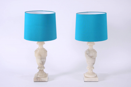 Pair of Alabaster Lamps
