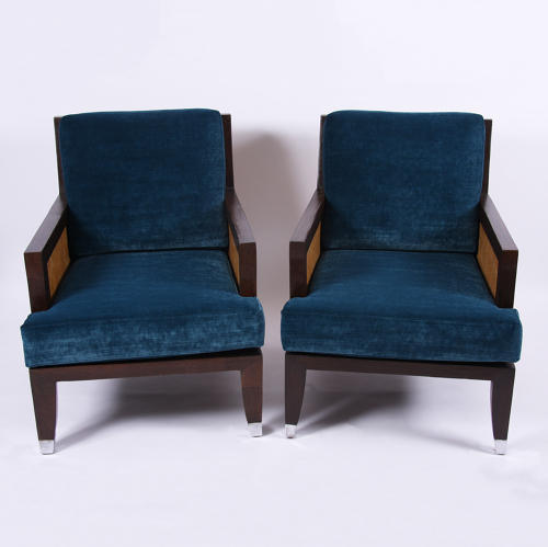 Pair of Parquetry Salon Chairs