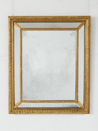 Giltwood Cushion Mirror