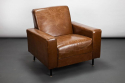 Pair of French Late 1960`s Leather Armchairs by Airborne - picture 2