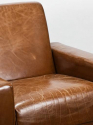 Pair of French Late 1960`s Leather Armchairs by Airborne - picture 3
