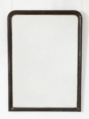 Black & Silver Overmantel Mirror