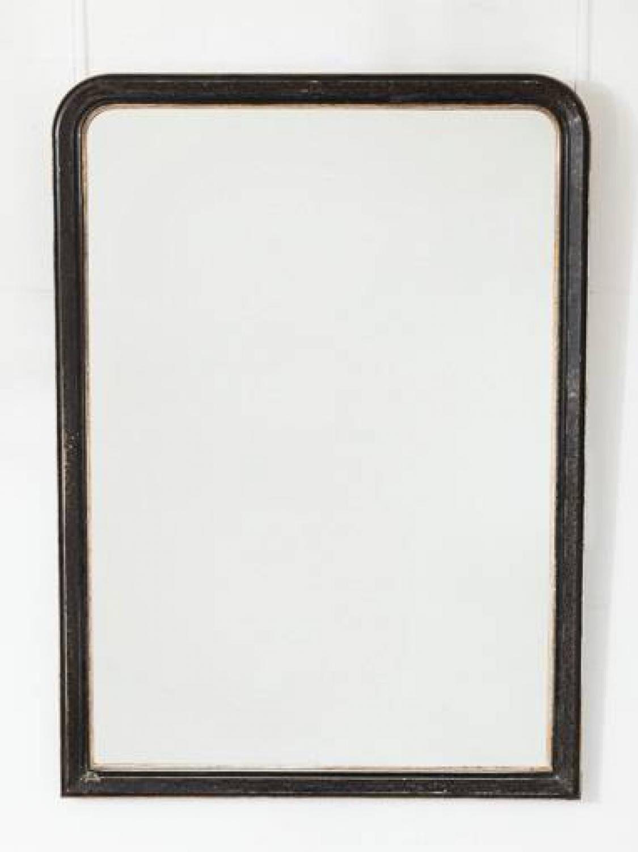 Black & Silver Overmantel Mirror