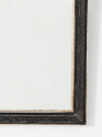 Black & Silver Overmantel Mirror - picture 3