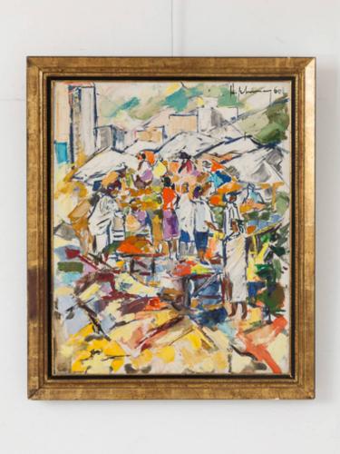 Market Scene Painting