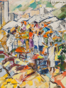 Market Scene Painting - picture 2