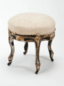 C19 Black and gilt stool - picture 1