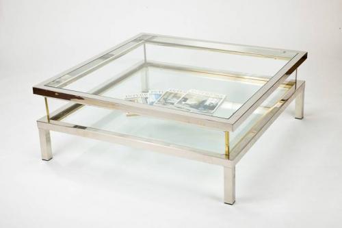 Sliding Top `Vitrine` Coffee Table