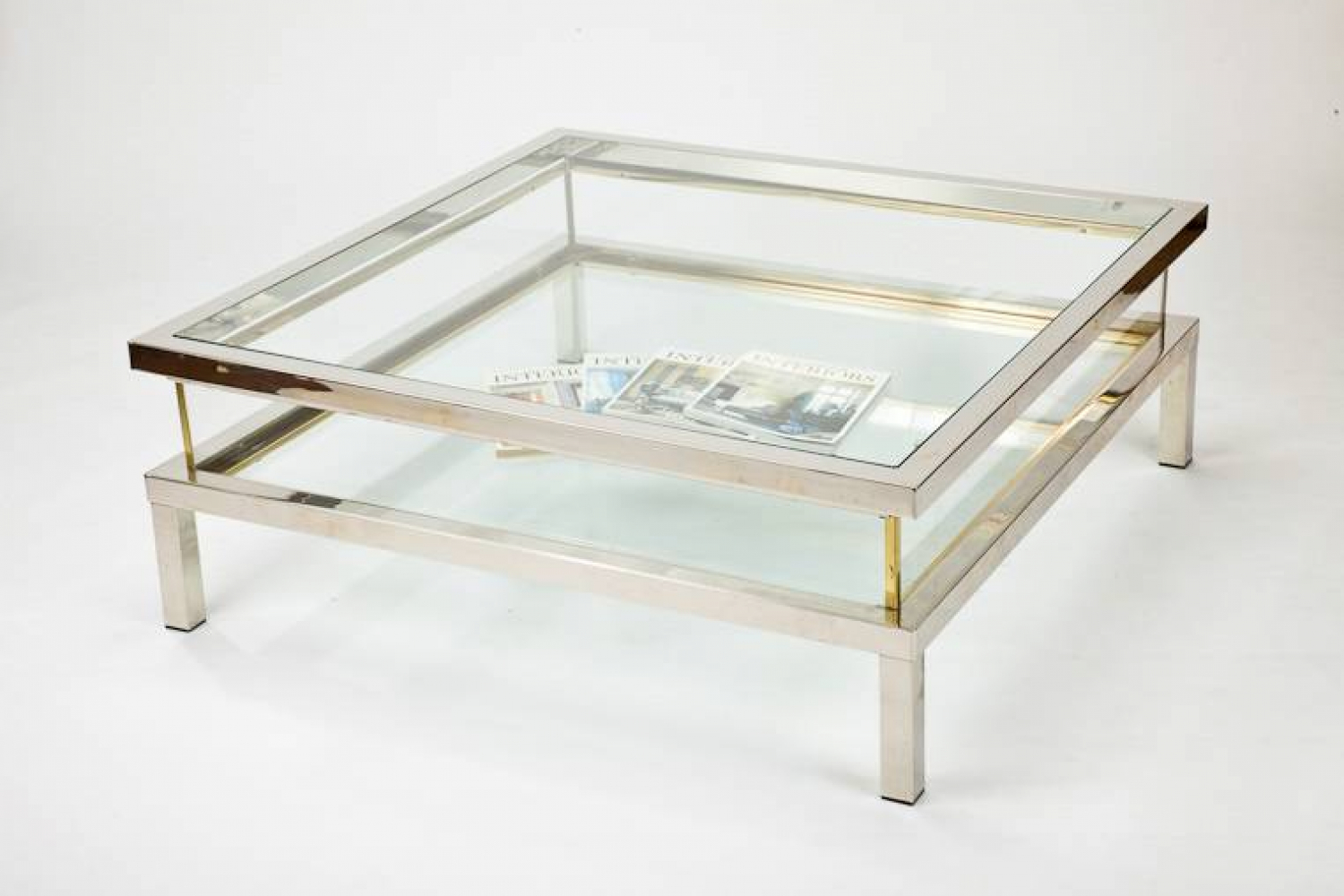 Sliding Top `Vitrine` Coffee Table