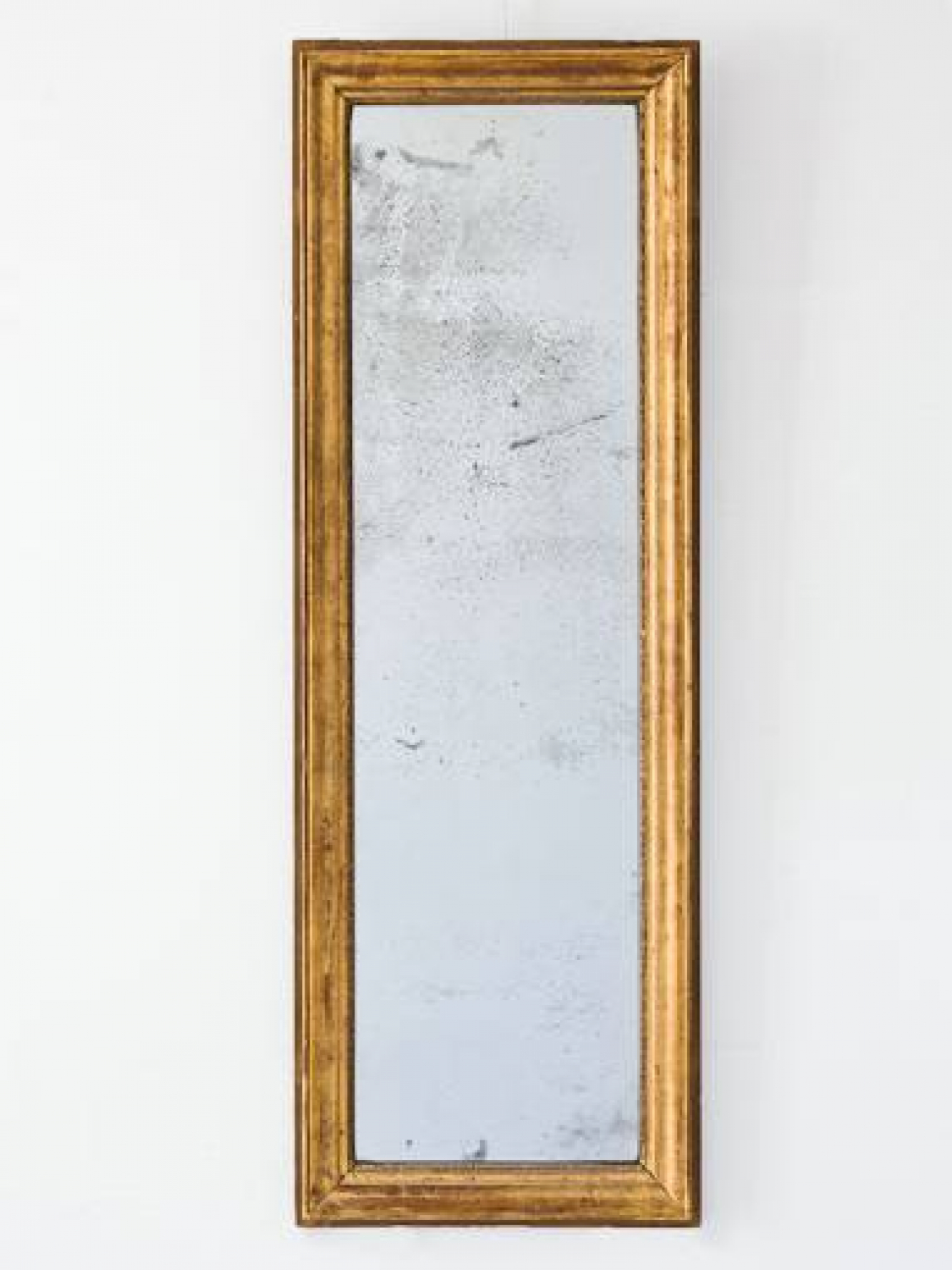 French, C19th Narrow Giltwood Mirror
