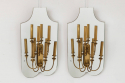 Pair of Mirrored Wall Lights - picture 1