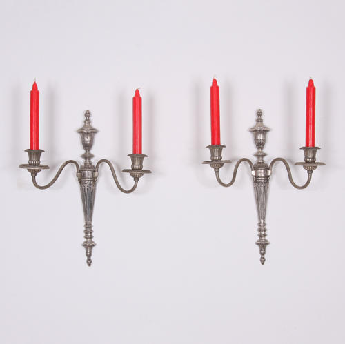 Pair of silver plated Wall Sconces.