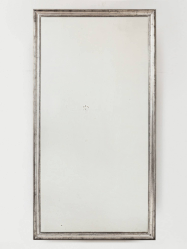 Large Silver Leaf Mirror