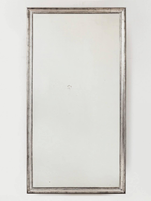 Large Silver Leaf Mirror