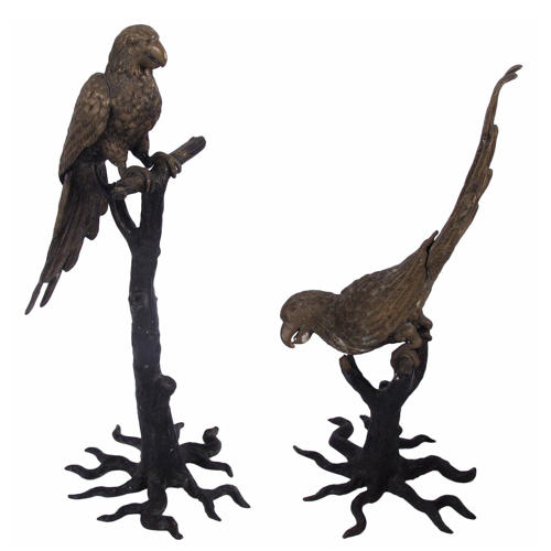 Pair of Parrot Sculptures
