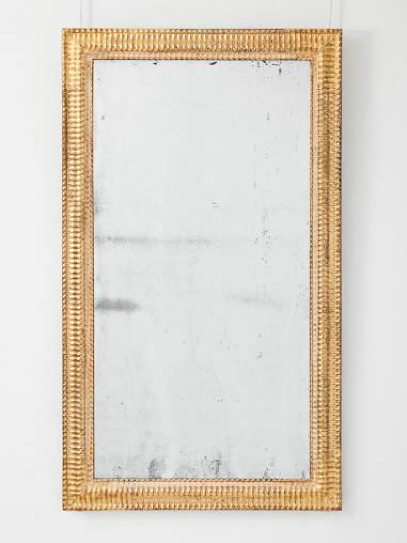 C19th French, Ripple Framed Giltwood Mirror