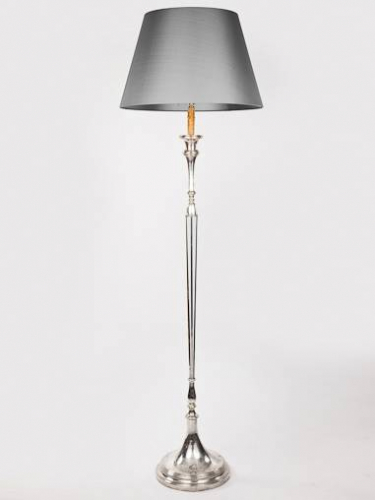 Silver plated Spanish floor standing lamp