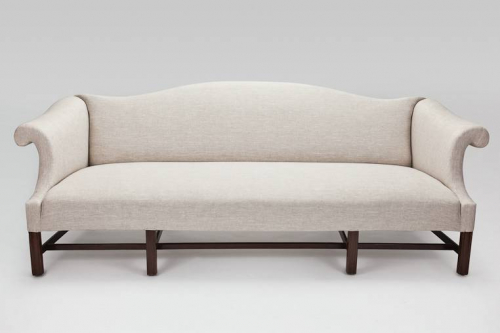 C19th English Camel Backed Sofa
