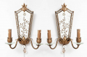 Pair of mirrored wall sconces - picture 1
