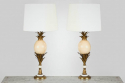 Pair of French Ostrich Egg Lamps - picture 1