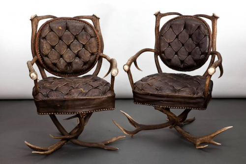 French Antler Chairs