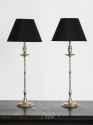 Pair of Silver Plated Table Lamps - picture 1